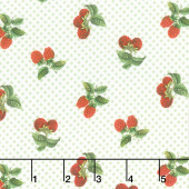 Briarwood - Mini Berry Toss Green Multi Yardage