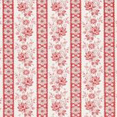 Sweet Sixteen - Main Stripe Red Yardage