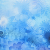Gradients - Blue Blooms Blues Digitally Printed Yardage