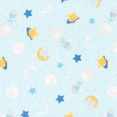 All Our Stars - Sleepy Time Toss Light Teal Yardage