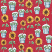 Sunflower Market - Sunflowers Red Yardage