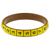 Missouri Star Measuring Tape Bracelet - Thin Yellow