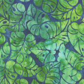 Artisan Batiks - Totally Tropical Leaves Island Green Yardage