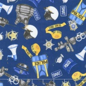 Protect & Serve - Police Gear Navy Yardage