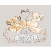 Disney Sentimental - Simba & Nala in Light Grey with Metallic Copper Panel