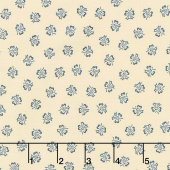 Mood in Blue - Tulip Dance Cream Yardage