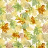 Shades of the Season 10 - Skeleton Leaves Autumn Metallic Yardage