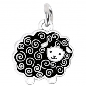 Black Wooly Sheep Charm