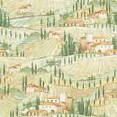 Bella Toscana - Tuscan Scene Multi Yardage