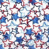 Patriotic Pride - Stars White Yardage