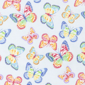 Emelia's Dream - Butterflies Light Blue Yardage