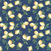 The Berry Best - Lemon Toss Navy Yardage