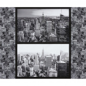 Cityscapes - New York Gotham Grey Digitally Printed Panel