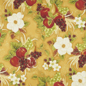 Bounty of the Season - Fruit Gold Metallic Yardage