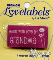 Made With Love by Grandma Iron-On Lovelabels