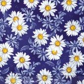 Daisy Blue - Daisy Dance Delft Yardage