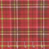 Poinsettia & Pine - Plaid Red Yardage