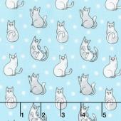 Catnip - Happy Cats Aqua Yardage