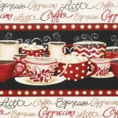 Morning Coffee - Repeating Stripe Multi Yardage