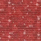 The Little Things - Little Sentiments Red/Natural Yardage