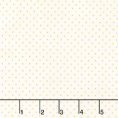 Swiss Dot - Swiss Dot Yellow on White Yardage