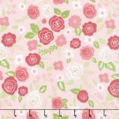 Lollipop Garden - Springtime Blooms Pinkberry Yardage