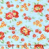 Love & Friendship - Friendship Garden Sky Yardage