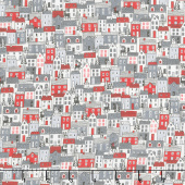 Scandi - Houses Red Yardage