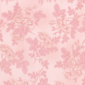 Paris Romance - Flowers Coral Yardage