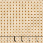 Abundant Blessings - Ovals and Plus Signs Cream Yardage