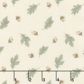 Harvest Road - Floating Acorn Eggshell Yardage