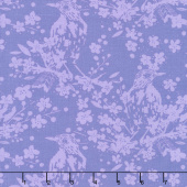 Painted Garden - Bird Songs Hyacinth Yardage