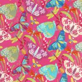 Butterfly Dance - Butterfly Dance Pink Yardage