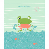 Ready Set Splash - Frog Coral Panel