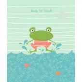 Ready Set Splash - Frog Coral Panel