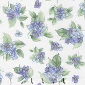 Watercolor Hydrangeas - Hydrangea Posy Lavender Yardage