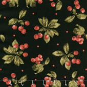 A Fruitful Life - Cherries Black Yardage