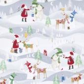 Santa's Little Helpers - Santa's Little Helpers Grey Yardage