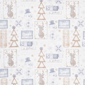 Snow is Falling - Rustic Snow Fun Cream Yardage
