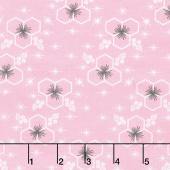 Palm Canyon - Hexagon Pink Yardage