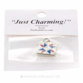 Spinning Star Charm Red, White & Blue