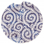 Indigo Patterns Car Coaster - Fiddleheads