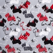 Scottie Love - Dottie Scottie Gray Yardage