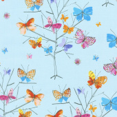 Kaleidoscope - Butterfly Trees Sky Yardage