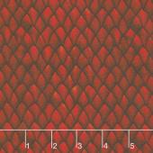 Dragons - Scales Red Digitally Printed Yardage