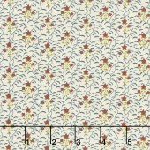 Buttermilk Basics - Flowers And Vines Blue Yardage