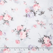 Margeaux - Grey Colorstory Tossed Roses Grey Yardage