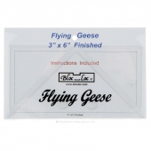"Bloc Loc 3"" x 6"" Flying Geese Square Up Ruler"