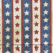 Stonehenge Stars and Stripes VII - Star Stripe Navy Yardage