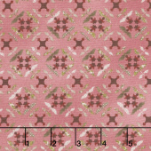 Tickled Pink - Tile Flowers Pink Yardage